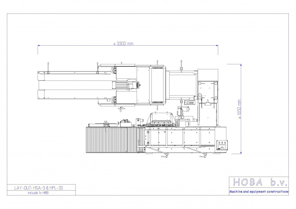 хоба HSA5 + HBB + HPL-20 с отводящим транспортером